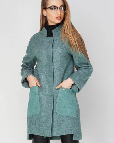 Зеленое пальто весеннее Leo Pride