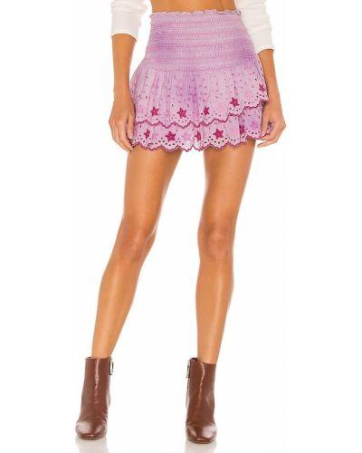 Bawełna fioletowy spódnica z haftem Loveshackfancy