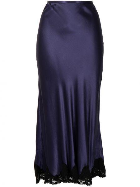 Niebieska spódnica koronkowa Rixo