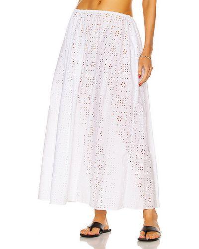 Хлопковая белая юбка на резинке Matteau