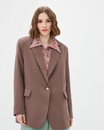 Коричневый пиджак Elsi