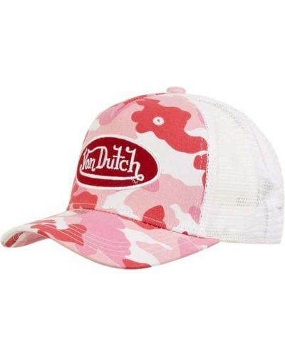 Różowa czapka bawełniana Von Dutch