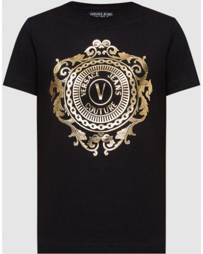 Черная футболка Versace Jeans Couture