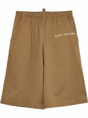 Коричневые шорты свободного кроя Marc Jacobs