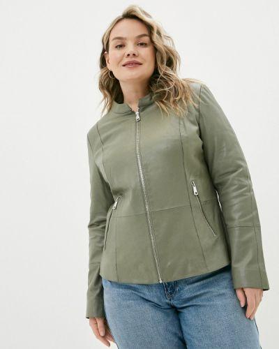 Серая кожаная куртка Le Monique