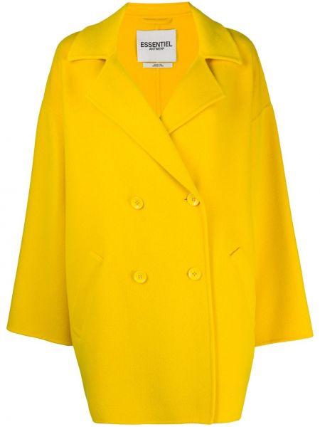 Długi płaszcz wełniany z kieszeniami Essentiel Antwerp