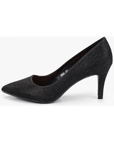 Текстильные черные туфли-лодочки Queen Vivi
