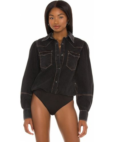 Koszula jeansowa - czarna Allsaints
