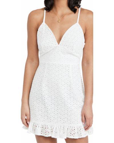 Белое платье с вырезом на бретелях Minkpink