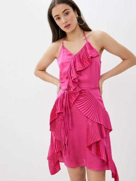 Вечернее платье розовое весеннее Sh