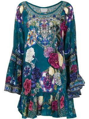 Платье с цветочным принтом с заниженной талией Camilla