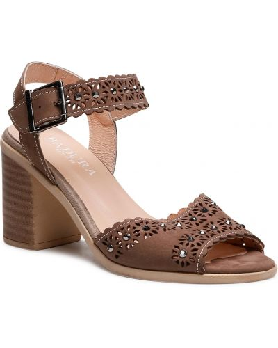 Brązowe sandały Badura