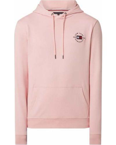 Różowa bluza z kapturem bawełniana Tommy Hilfiger