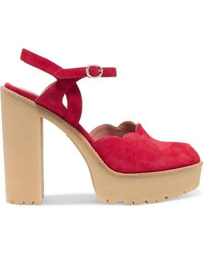 С ремешком красные сандалии на платформе Red(v)