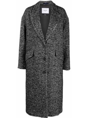 Черное пальто в ёлочку PaltÒ