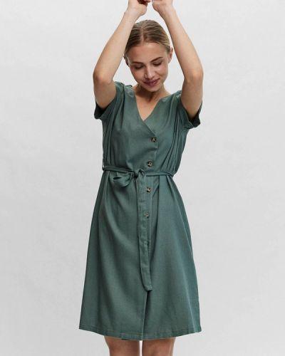 Бирюзовое платье на запах Vero Moda