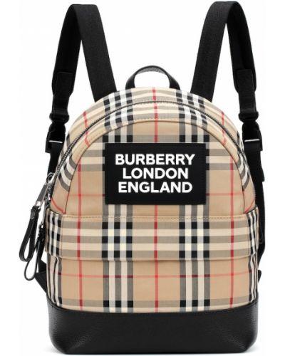Beżowy bawełna skórzany plecak zabytkowe Burberry Kids