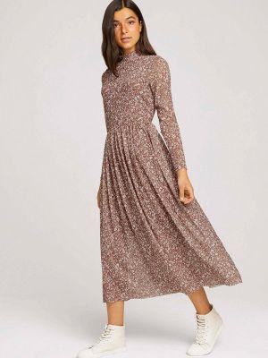 Джинсовое платье - бежевое Tom Tailor Denim