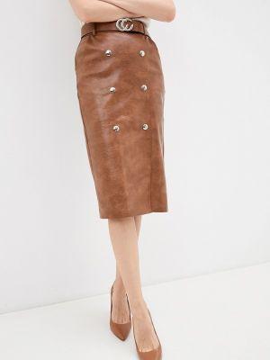 Кожаная юбка - коричневая Miss Gabby