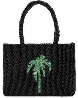 Ażurowa czarna torba na ramię z akrylu Rixo