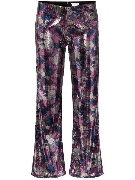 Przycięte spodnie z haftem spodnie Collina Strada