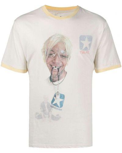 T-shirt bawełniany krótki rękaw z printem Telfar