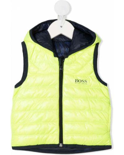 Żółta klasyczny kamizelka pikowana bez rękawów Boss Kidswear
