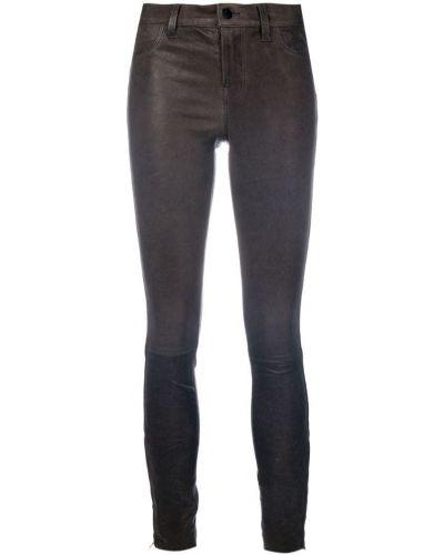 Укороченные брюки зауженные серые J Brand