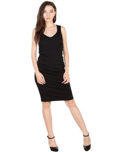 Черное платье из вискозы со складками Roccobarocco