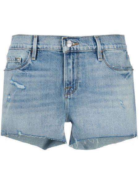 Хлопковые синие джинсовые шорты Frame