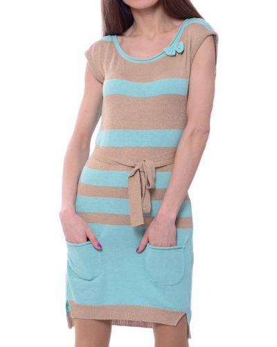 Акриловое бирюзовое платье Blugirl