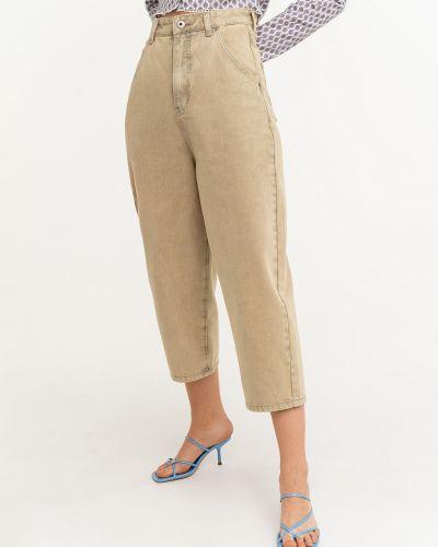Потертые свободные укороченные джинсы свободного кроя Befree