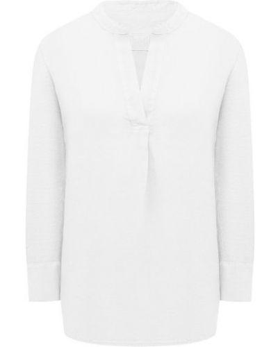 Льняная блузка - белая 120% Lino