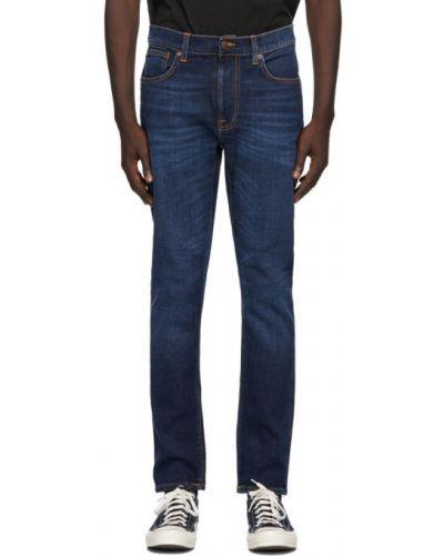 Текстильные черные джинсы стрейч Nudie Jeans