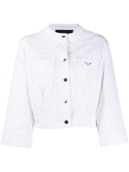 Джинсовая куртка на пуговицах с карманами Emporio Armani