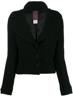 Нейлоновый черный короткая куртка John Galliano Pre-owned