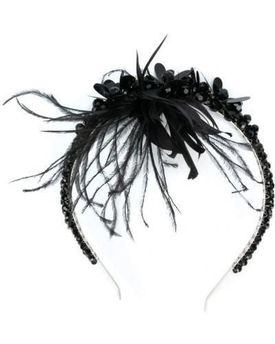 Ободок с перьями черный Simone Rocha