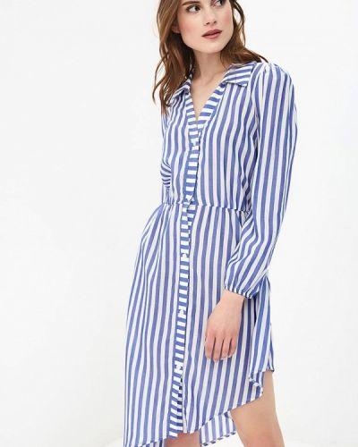 Синее платье с длинными рукавами Rinascimento