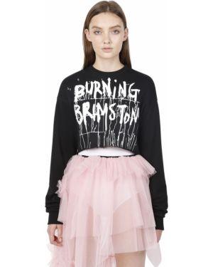 Prążkowana czarna bluza bawełniana Rolling Acid