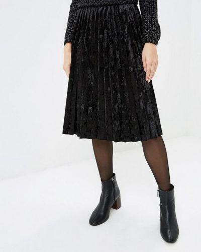 Плиссированная юбка черная итальянский Perfect J