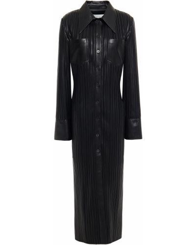 Платье миди на пуговицах - черное Nanushka