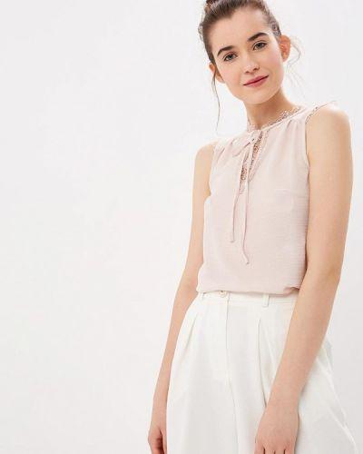 Блузка без рукавов розовая Naf Naf