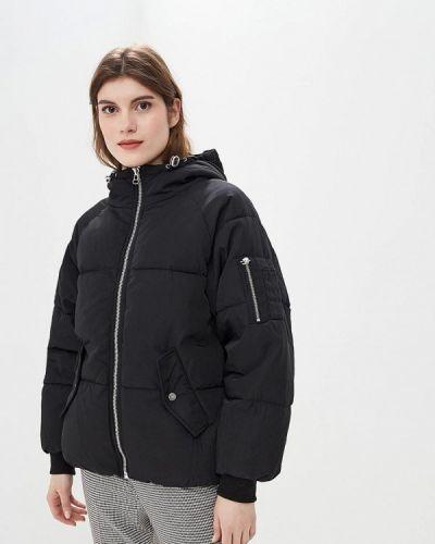 Утепленная куртка демисезонная черная твое