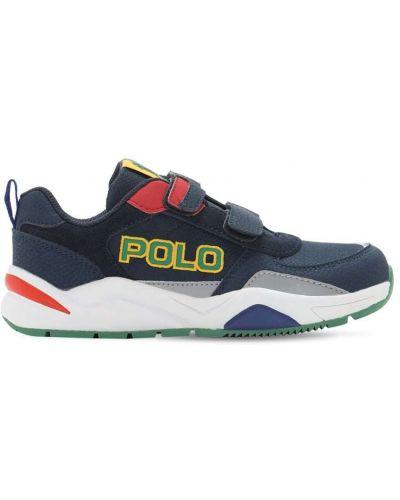 Z paskiem niebieski sneakersy na hakach Ralph Lauren
