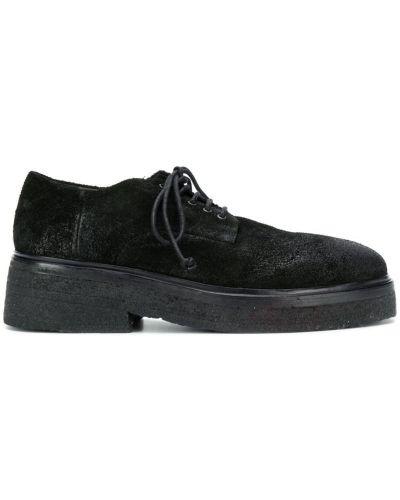Туфли на толстой подошве черные на шнуровке Marsèll