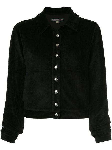Черная классическая рубашка с воротником с манжетами из вискозы Alexa Chung