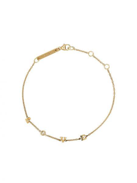 Тонкий желтый золотой браслет металлический круглый Zoë Chicco