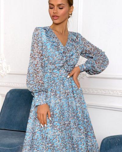 Приталенное повседневное шифоновое платье Open-style