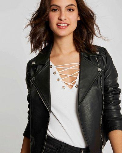 Кожаная черная кожаная куртка Morgan