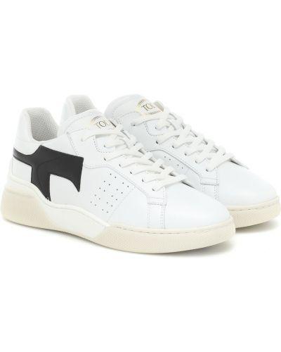 Białe klasyczne sneakersy skorzane Tod's